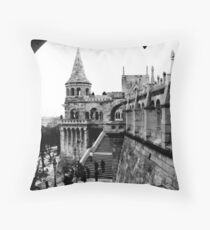 Budapest in Black and White Throw Pillow
