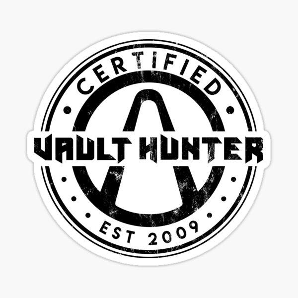 Cazador de bóvedas certificado (Borderlands) Pegatina