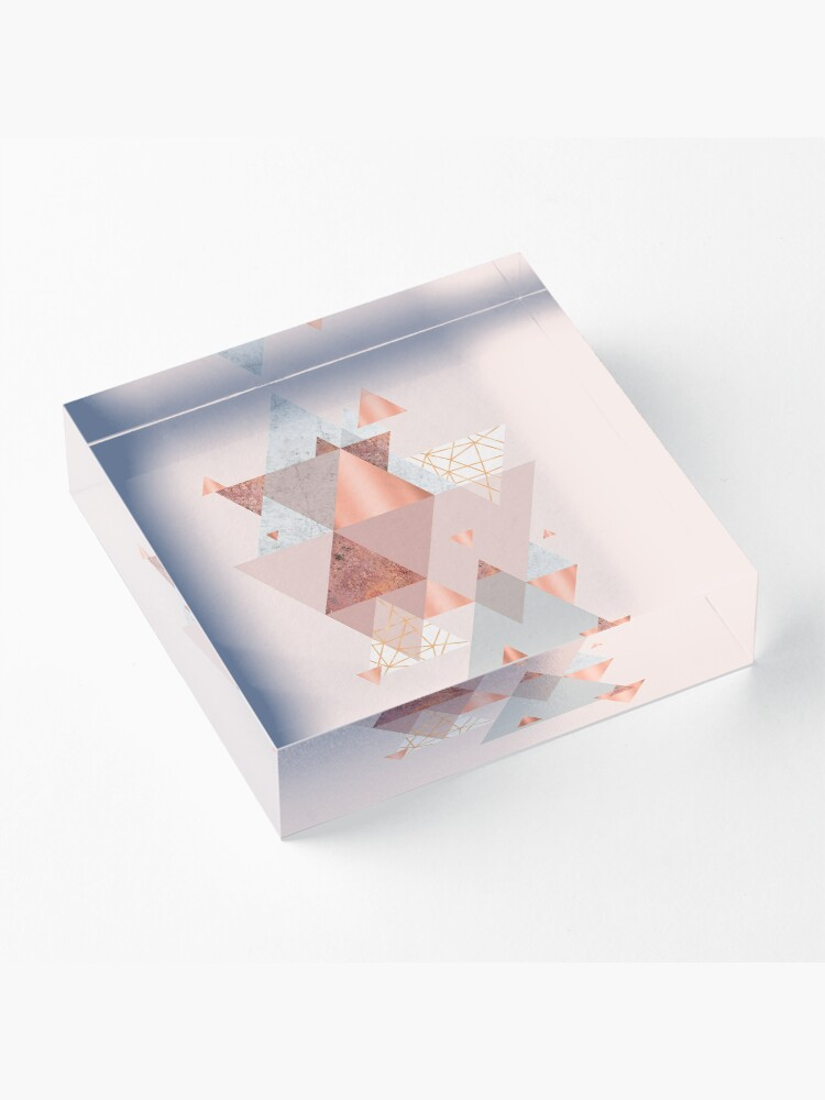 Alternate view of Blush Pink Geo Acrylic Block