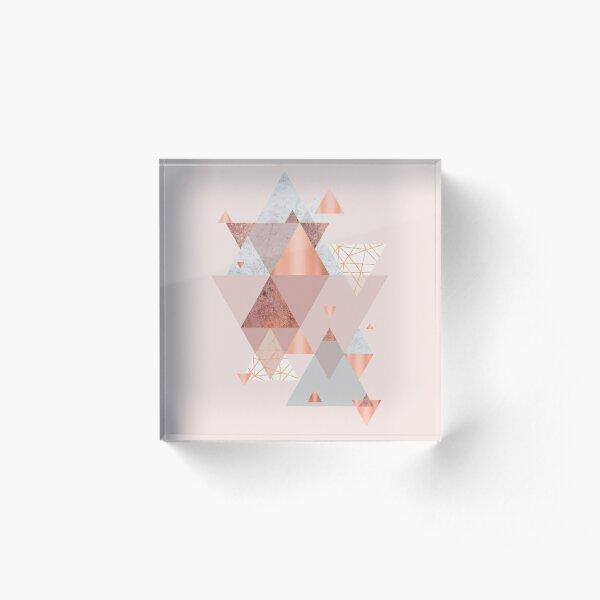 Blush Pink Geo Acrylic Block