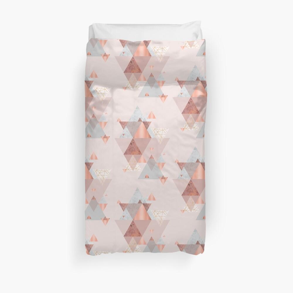 Blush Pink Geo Duvet Cover