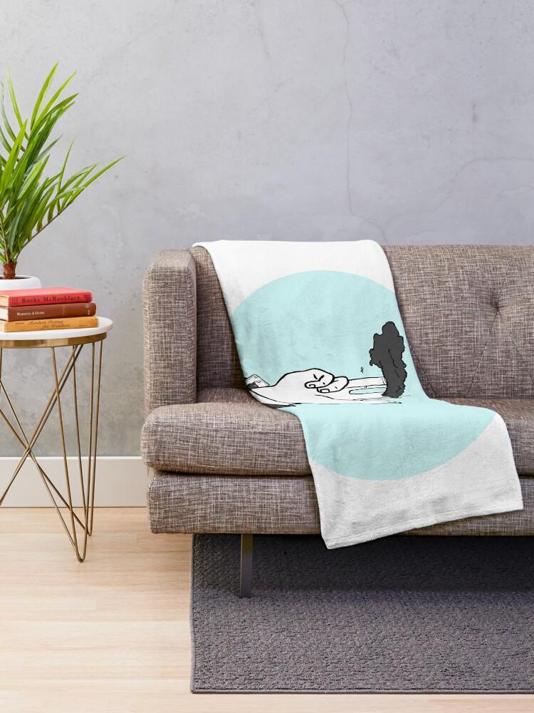 Alternate view of nineleven Throw Blanket
