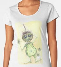 There's an Alien in my garden!  Premium Scoop T-Shirt