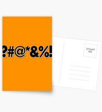Q*Bert Parody ?#@*&%!  Postcards