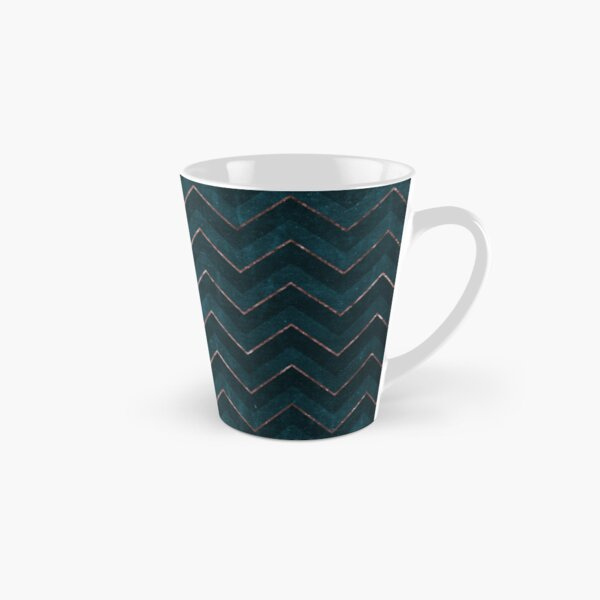 chevron zigzag pattern // rosegold & teal Tall Mug