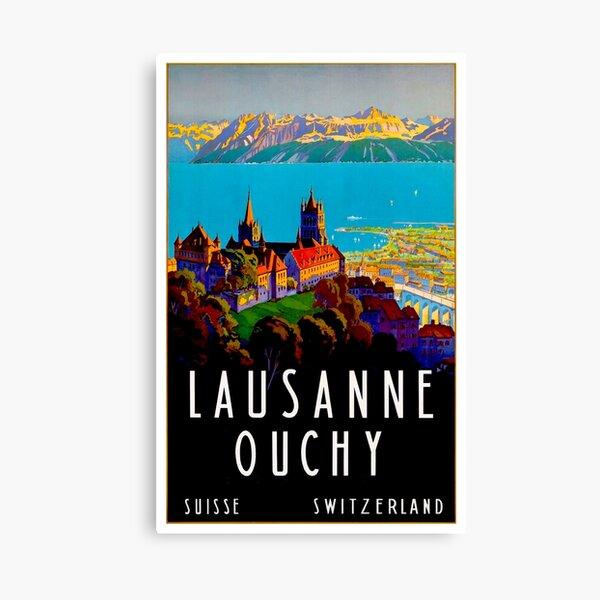 Vintage Switzerland Lausanne Ouchy Travel 1929 Canvas Print