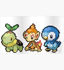 Sinnoh Region Pixel Starter Poster