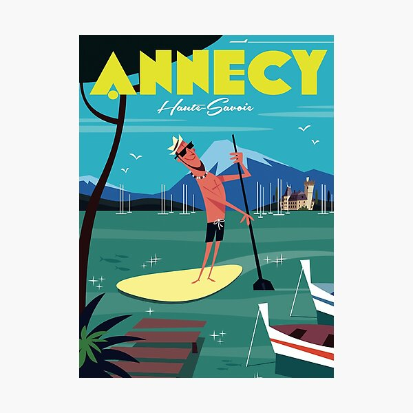 Lac Annecy poster Photographic Print