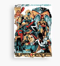 HANNA-BARBERA SUPER HEROES OLD Canvas Print