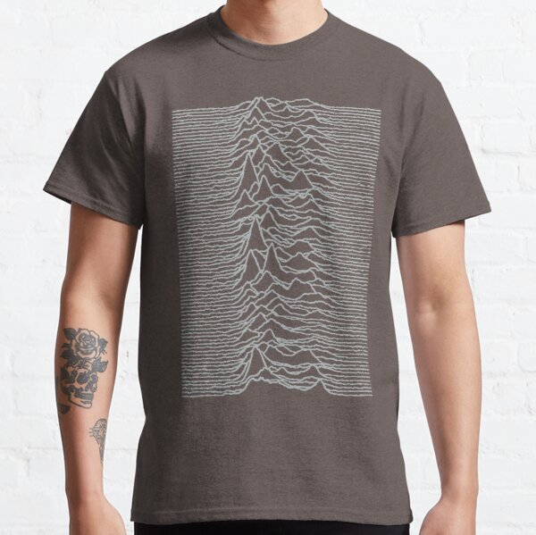 Unknown Pleasures Silver Classic T-Shirt