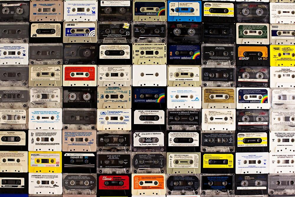 cassette tape wall in australia by johnnabrynn