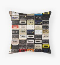 cassette tape wall in australia Throw Pillow