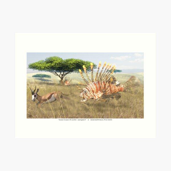 Ocean Invasion #9: Lionfish 1, Springbok 0 Art Print