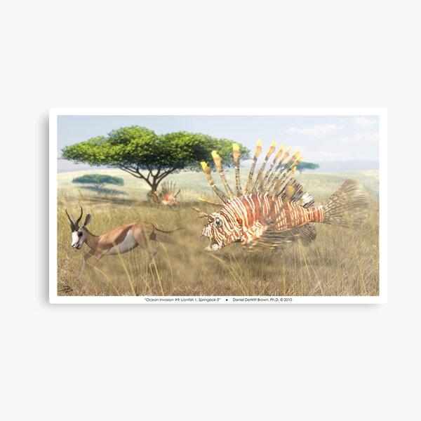 Ocean Invasion #9: Lionfish 1, Springbok 0 Metal Print