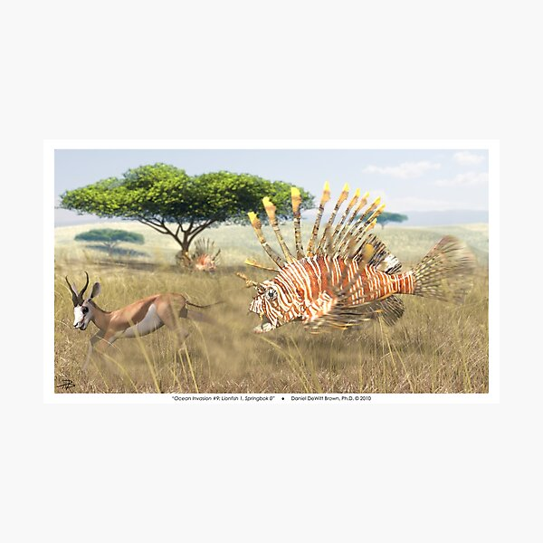 Ocean Invasion #9: Lionfish 1, Springbok 0 Photographic Print