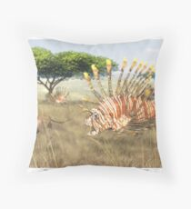 Ocean Invasion #9: Lionfish 1, Springbok 0 Throw Pillow