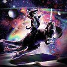 Galaxy Cat On Dinosaur Unicorn In Space by SkylerJHill