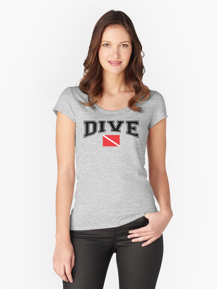SCUBA Dive Women's Fitted Scoop T-Shirt Front