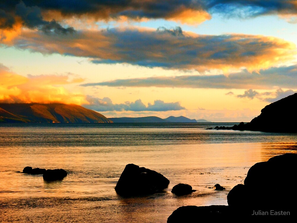 Evening sunlight in Dingle Bay by Julian Easten