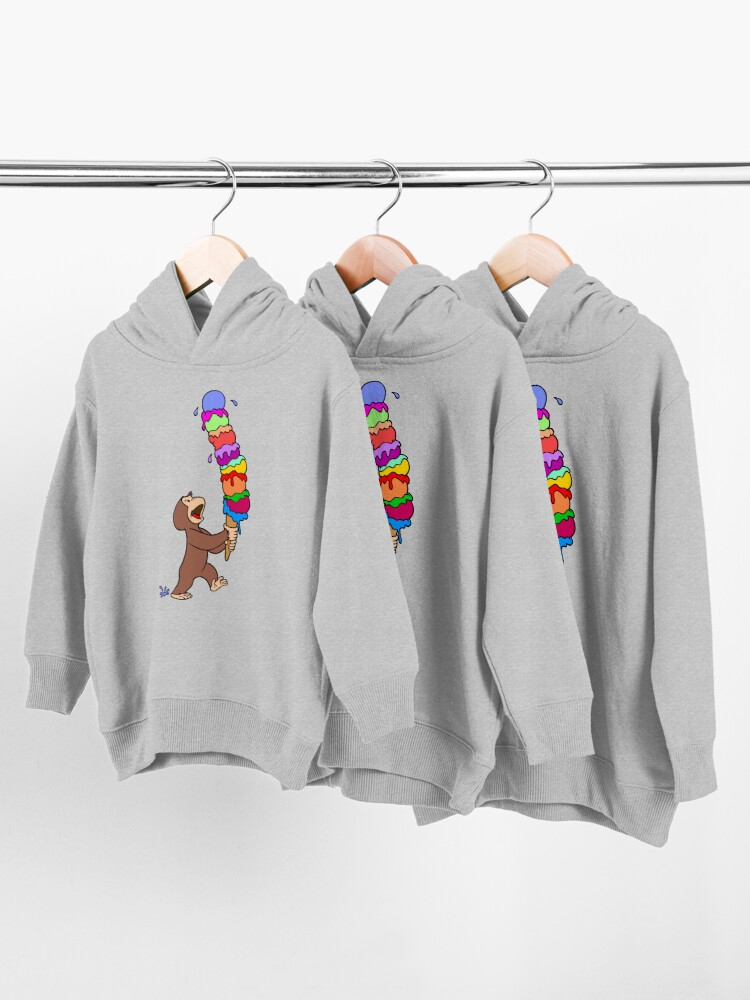 Alternate view of Curious George Has An Ice Cream Treat Toddler Pullover Hoodie
