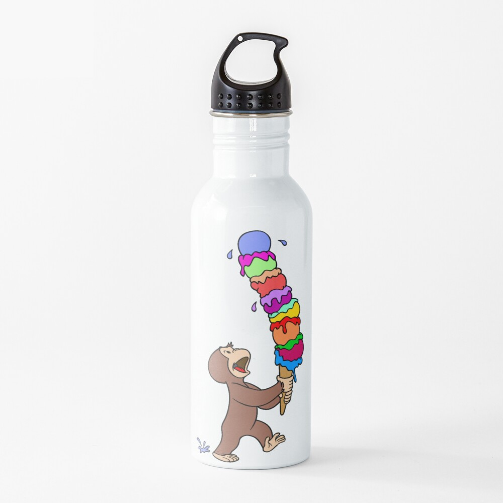 Curious George Has An Ice Cream Treat Water Bottle
