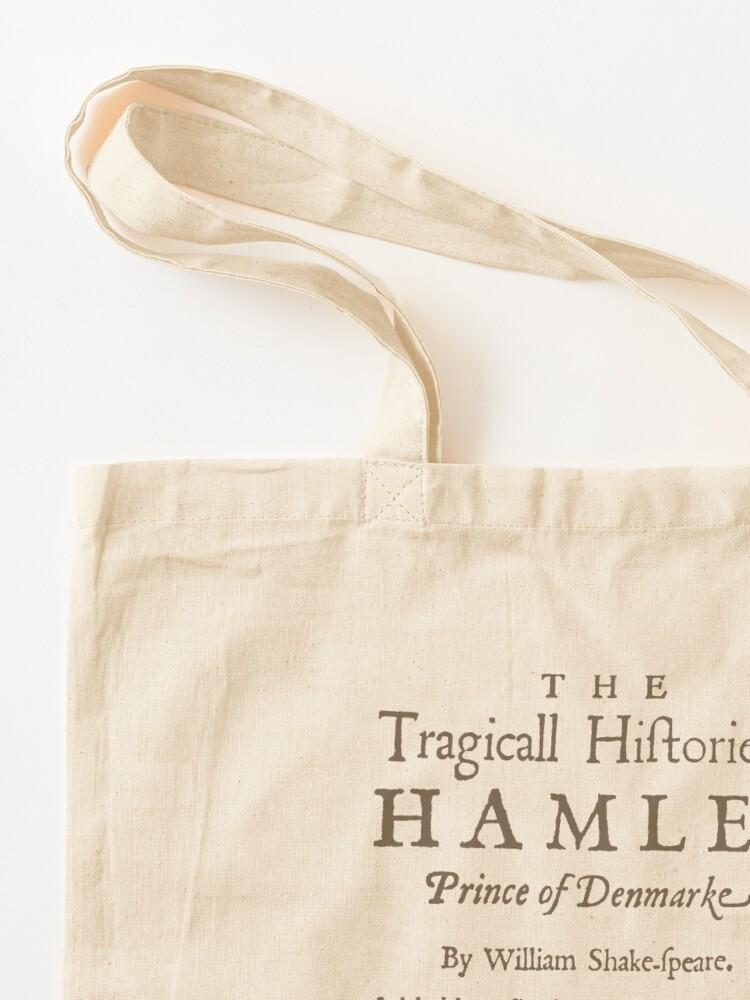 Alternate view of Shakespeare, Hamlet 1603 Tote Bag
