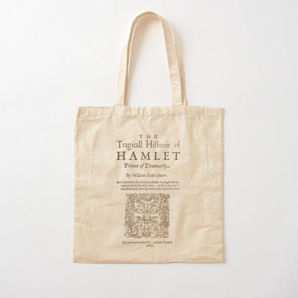 Shakespeare, Hamlet 1603 Cotton Tote Bag