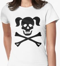 Crossbones Skull Pigtails T-Shirt