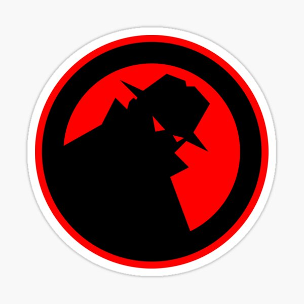 Hi-Res Black Hat Logo Sticker Sticker