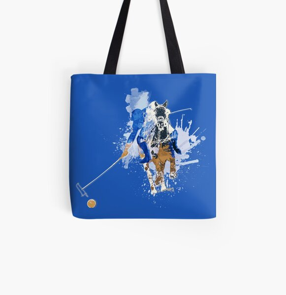 polo player bluebrown All Over Print Tote Bag