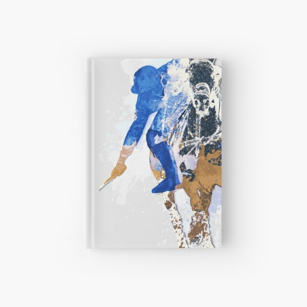 polo player bluebrown Hardcover Journal