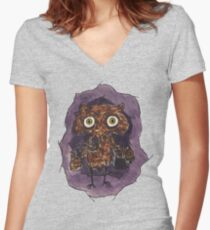 Owlin' Women's Fitted V-Neck T-Shirt