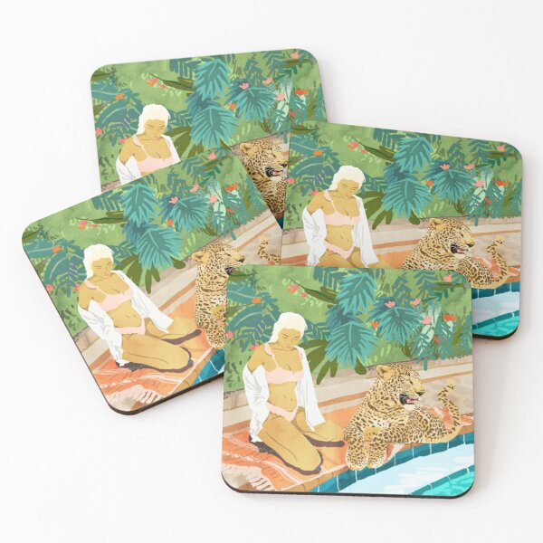 The Wild Side #illustration #painting Coasters (Set of 4)