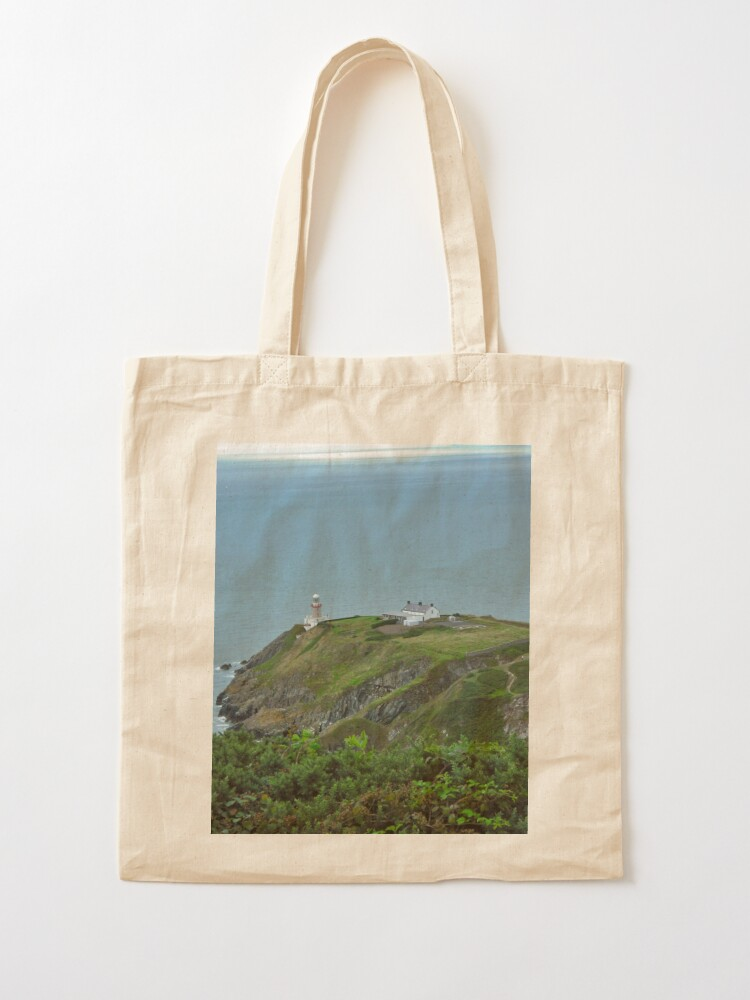 Alternate view of Howth Lighthouse - Ireland Tote Bag