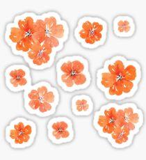 Little Orange Watercolor Flowers Set Pack Sticker