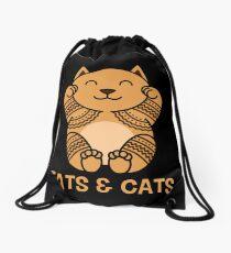 Tats & Cats Drawstring Bag