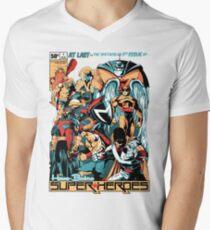 HANNA-BARBERA SUPER HEROES Men's V-Neck T-Shirt