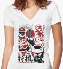 Tokusatsu | Assemble Women's Fitted V-Neck T-Shirt