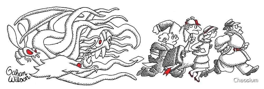 Gahan Wilson Art 2: THEM - Investigators Flee the Mythos by Chaosium