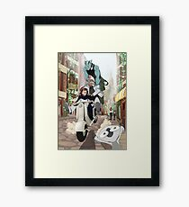 Kekkai Sensen - Leonardo, Zapp and Zed on vespa Framed Print