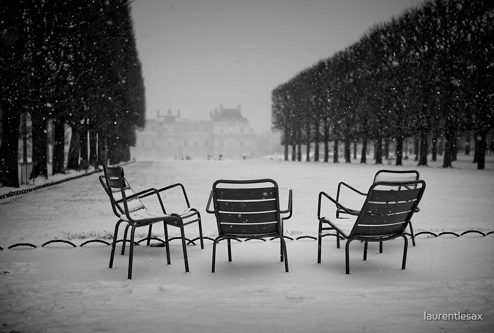 Paris in the snow (2) by laurentlesax