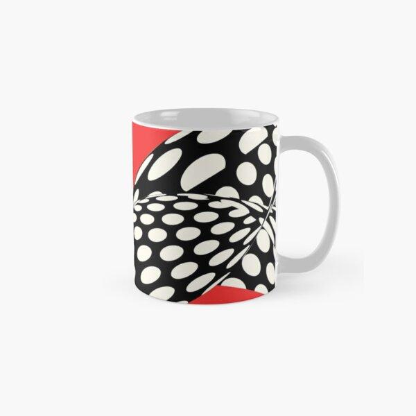 Wavy Dots on Red Classic Mug