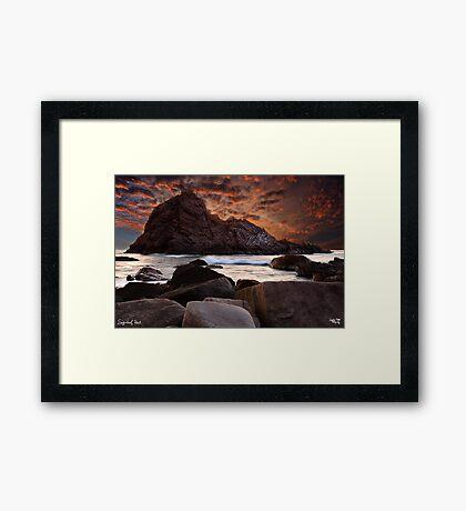 Sugarloaf Rock Framed Print