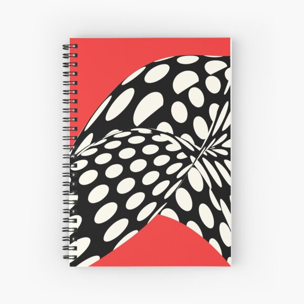 Wavy Dots on Red Spiral Notebook