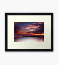 Colours of the Sun Framed Print