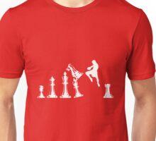 Kickboxing Chess Jumping Knee White  Unisex T-Shirt
