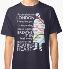 London Underground Map Sherlock Classic T-Shirt