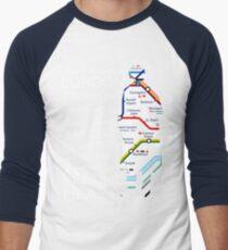 London Underground Map Sherlock Men's Baseball ¾ T-Shirt