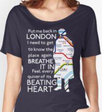 London Underground Map Sherlock Women's Relaxed Fit T-Shirt
