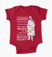 London Underground Map Sherlock Kids Clothes